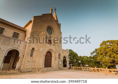 Penha Church,Macau China - stock photo