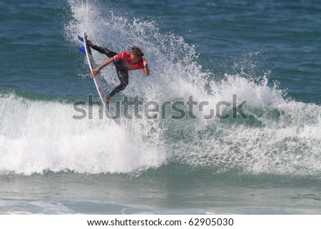 PENICHE, PORTUGAL - OCTOBER 12 :Chris Davidson (AUS) in Men's Rip Curl Pro Portugal 2010, October 12, 2010 in Peniche, Portugal