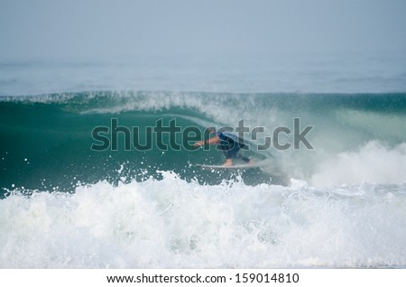 PENICHE, PORTUGAL - OCTOBER 17 : Mick Fanning (AUS) during the Rip Curl Pro Portugal, October 17, 2013 in Peniche, Portugal - stock photo