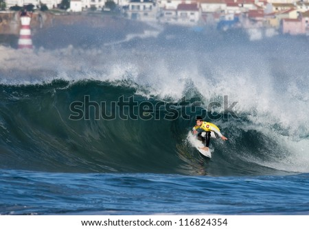 PENICHE, PORTUGAL - OCTOBER 13 : Participant in Men's Rip Curl Pro Portugal 2012, October 13, 2012 in Peniche, Portugal