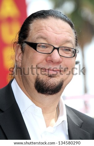 Penn Jillette at Penn & Teller's induction into the Hollywood Walk Of Fame, Hollywood, CA 04-05-13