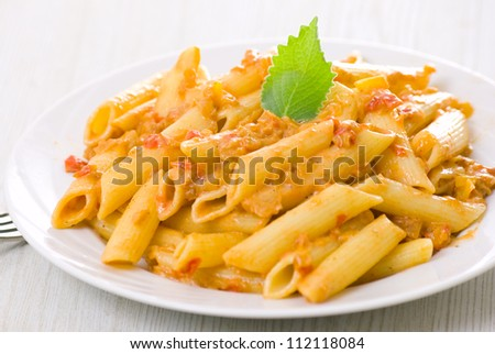 Penne pasta - stock photo