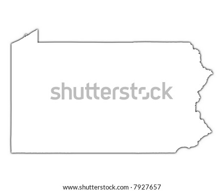 Pennsylvania State Map Stock Images RoyaltyFree Images Vectors - Pennsylvania in usa map