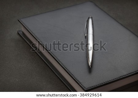 Pens and Notebooks - stock photo