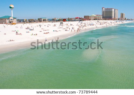 Pensacola Beach in March 2011, looking beautiful after the oil spill - stock photo