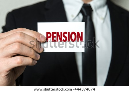 Pension - stock photo