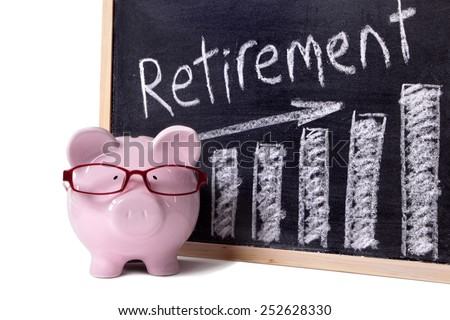 Pension fund, retirement plan growth concept. - stock photo