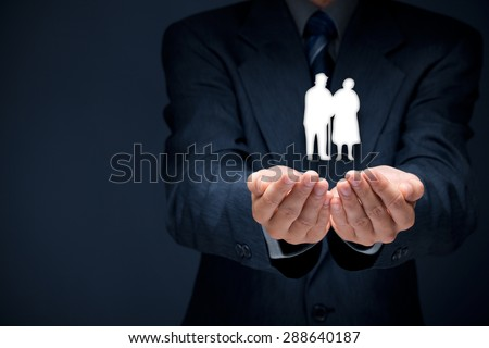 pension insurance senior business life insurance and support seniors concepts business concepts business life office