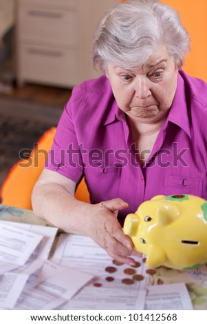 Pensioner has little money but lot of bills