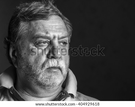 pensive mature man  - stock photo