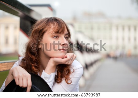 Pensive women thinking about future