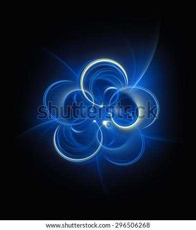 Pentahedral Turbulence abstract illustration - stock photo
