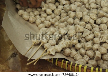 Jajanan stock images royalty free images vectors shutterstock pentol is indonesian special food altavistaventures Image collections