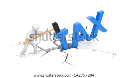 People against taxes - stock photo