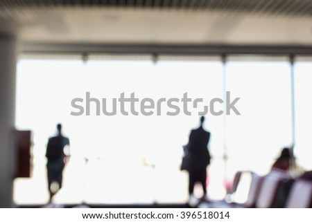 People Airport Business Travel Communication Agreement Concept - stock photo