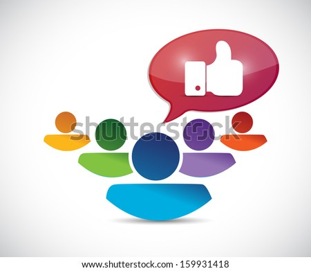 people and like hand illustration design over a white background - stock photo