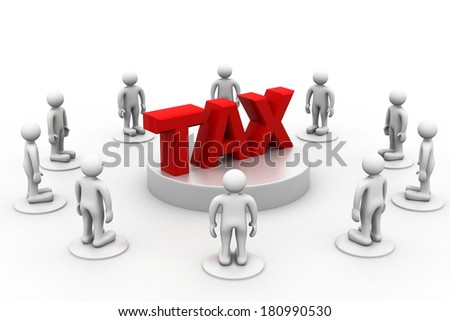People around word  Tax