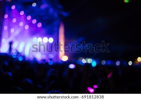 People At A Music Concert At Night