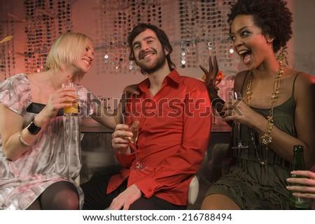 People at a nightclub. - stock photo
