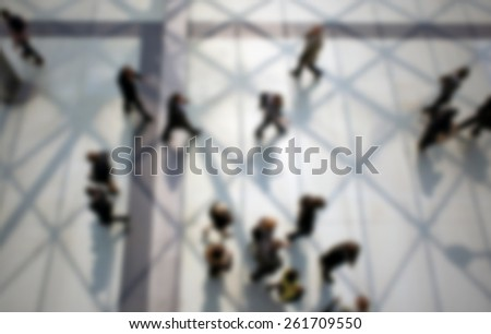 People background. Intentionally blurred editing post production. - stock photo