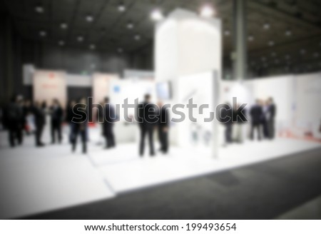 People background. Intentionally blurred post production. - stock photo