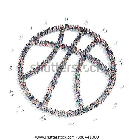 people  basketball sport icon - stock photo