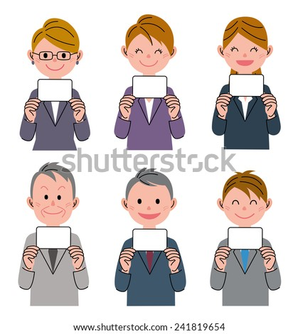 People Card - stock photo