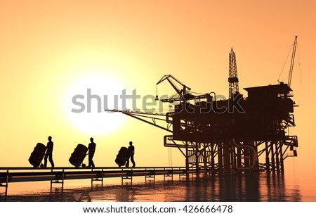 People carry oil in barrels.3d render