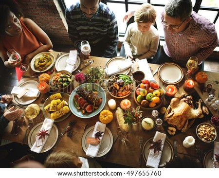 Table food top view stock photo 467823869 shutterstock for What do people eat on thanksgiving