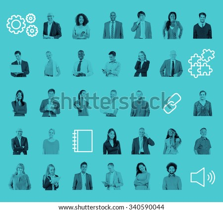 People Community Technology Connection Networking Concept - stock photo