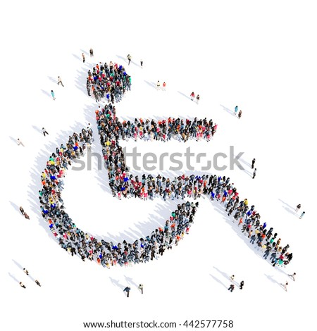 people disabled person medicine 3d - stock photo