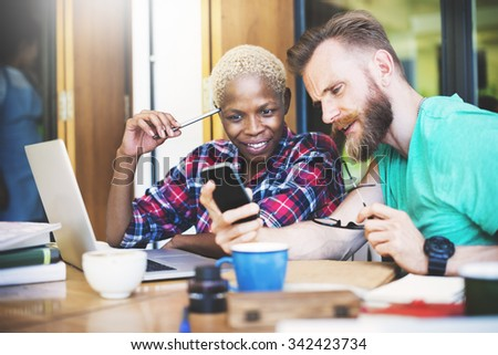 People Discussion Meeting Strategy Concept - stock photo