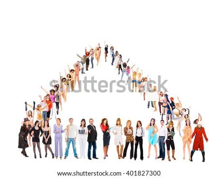 People Diversity Big Group  - stock photo