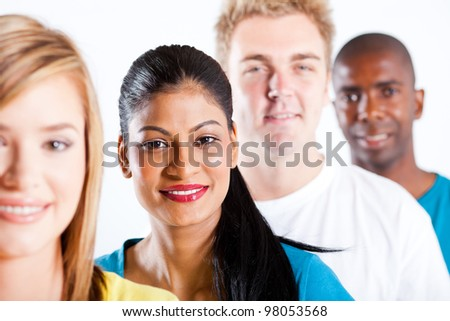 people diversity - group of diverse people closeup portrait - stock photo