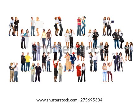 People Diversity Many Colleagues  - stock photo