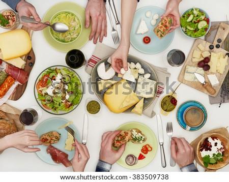 People eating - stock photo
