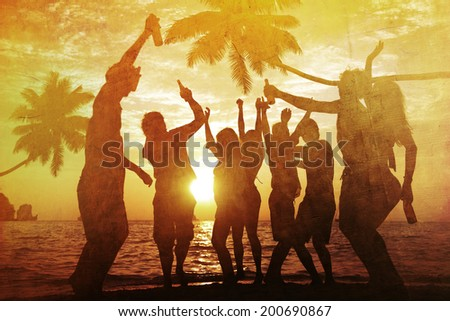 People Enjoying Party by the Beach