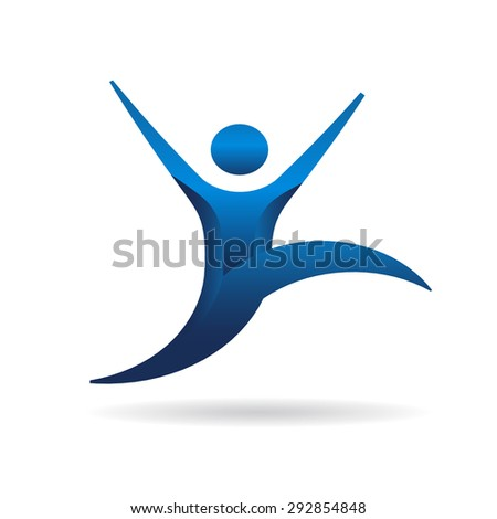 People fitness jumping - stock photo