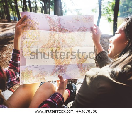 People Friendship Hangout Traveling Destination Holiday Concept - stock photo