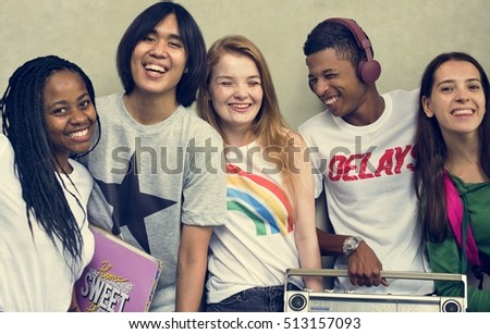 People Friendship Music Radio Entertainment Togetherness Concept