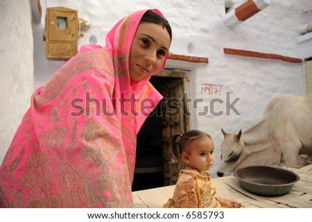 People from Jaisalmer - stock photo