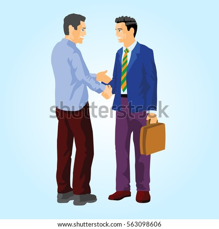 People greet each other stock illustration 563098606 shutterstock people greet each other m4hsunfo