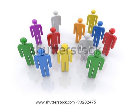 People group. Social concept.  3d rendered illustration - stock photo