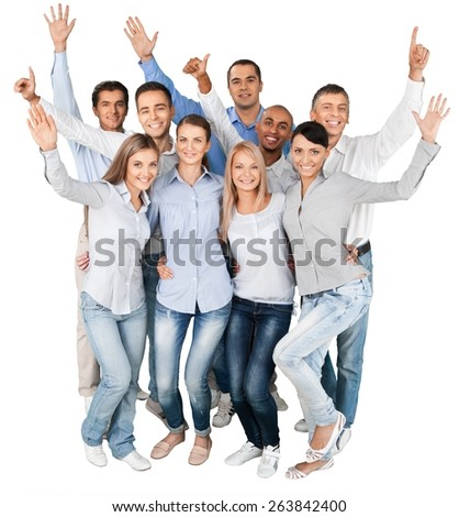 People. Happy business colleagues having fun - stock photo