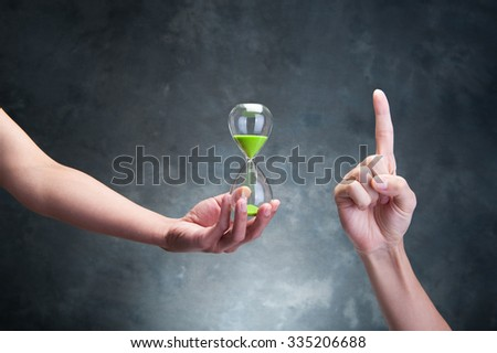 people have a hourglass - stock photo
