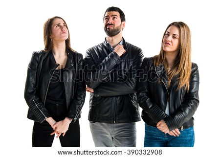 People having doubts - stock photo