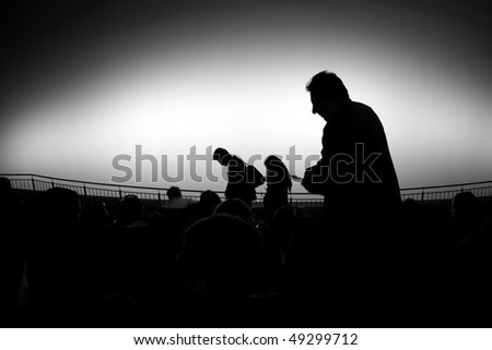 People in a theater or a cinema - stock photo