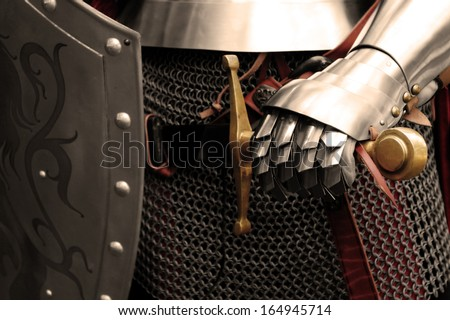 People in Middle ages - stock photo