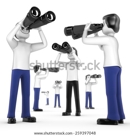 people in search - stock photo