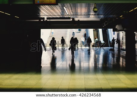 People in Subway Station